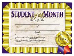 student of the month poster