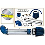 Rtunes Racing Short Ram Air Intake Kit + Filter Combo BLUE Compatible For 97-03 Ford F-150 4.2L V6