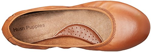 Mary Jane Hush Puppies Cognac Flats Ballet Women's Chaste qwIFOw