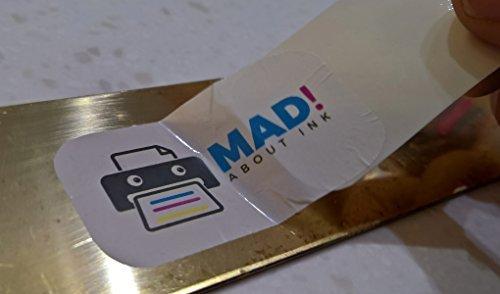 Madaboutink Blanco Calcoman/ía Transferencia Papel para Impresoras L/áser y Copiadoras 5 X A4 Hojas