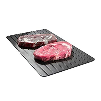 Mágico deshielo descongelar bandeja, bandeja de deshielo descongelar alimentos de forma rápida y segura (11,6* 8.2* 0.079() Glodenbridge