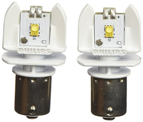 Philips 12898B2 1156 Bright White Vision Led Back-up light, 2 Pack (1972 Plymouth Duster Parts)