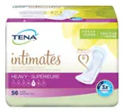 Tena Intimates Heavy Pads, Regular Length, Full Case of 168 Pads ()