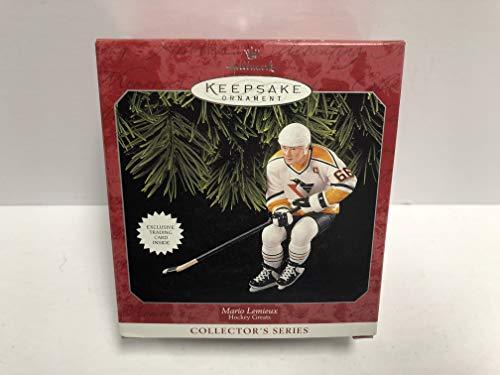 Mario Lemieux Pittsburgh Penguins 1998 Hallmark Keepsake Christmas Tree Ornament NHL Hockey with Exclusive trading card