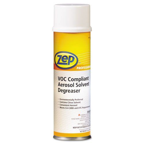 Zep Professional VOC-Compliant Aerosol Solvent Degreaser, Neutral, 20oz Aerosol - 12 bottles. by Zep Professional