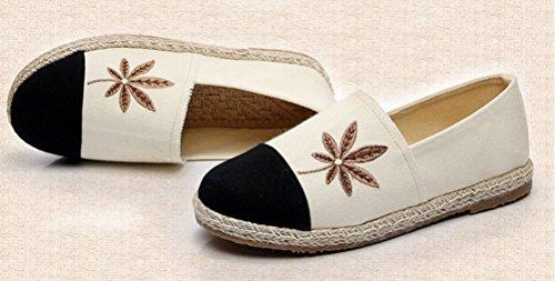 Zapatillas de Beige Mujer Lona Tianrui Crown para UBwaq