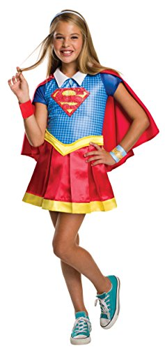 Supergirl Costumes For Girl (Rubie's Costume Kids DC Superhero Girls Deluxe Supergirl Costume, Medium)