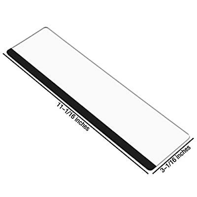 BCP Clear Color Acrylic Computer Monitor Screen Memo Message Board Memo Pad Holder Sticky Notes, Right & Left