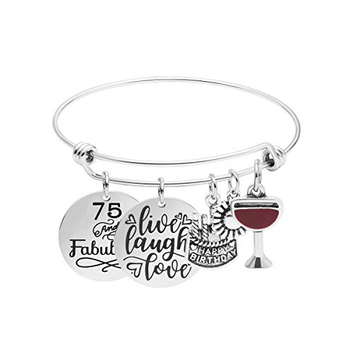 75 and Fabulous Charm Bangle Bracelet