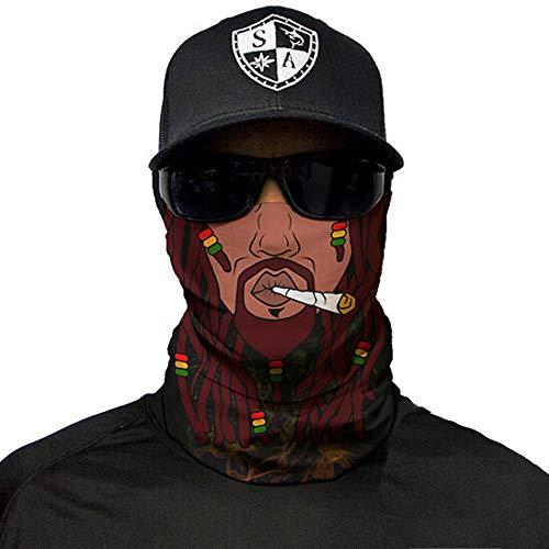 SA Company Face Mask Shield Protective Balaclava Bandana MicroFiber Tube Neck Warmer - Rasta