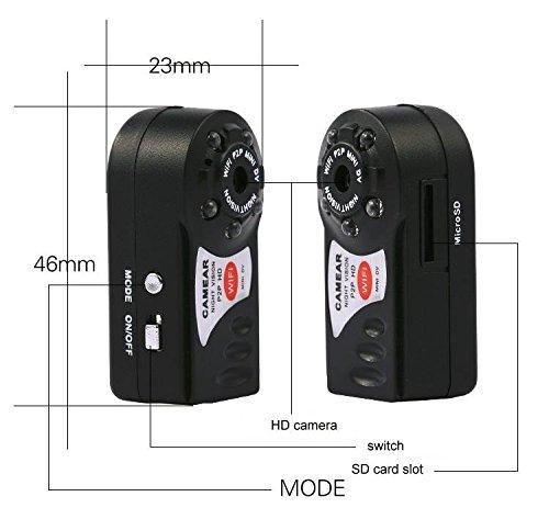 Electro-Weideworld - Q7 Mini portátil WiFi cámara IP de vídeo cámara Seguridad P2P Mini DV Videocámara: Amazon.es: Bricolaje y herramientas