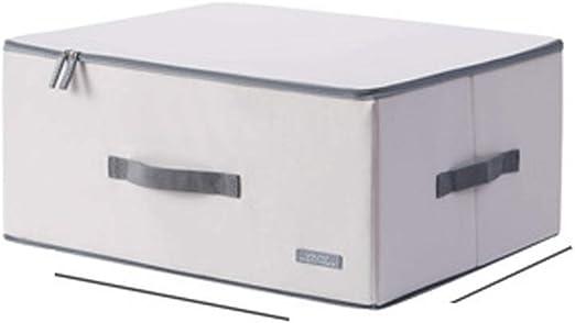 Caja de almacenamiento de ropa plegable de tela Oxford con cubierta de tela para organizar ropa, caja de almacenamiento para el hogar Size 2: Amazon.es: Hogar