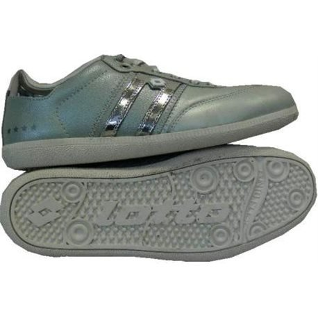 Zapatos casuales Para Hombre Lotto L2161 Gris/Plateado