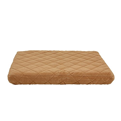 Carolina Pet Company Protector Pad Quilted Orthopedic Jamison Bed Caramel 48x36x4