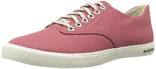 Seavees Mens Hermosa Plimsoll Banyan Fashion Sneaker Ocra Rosso