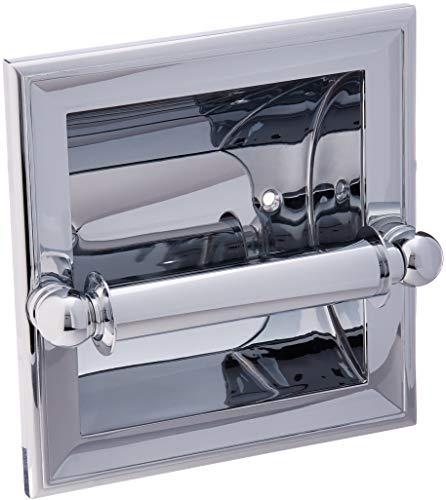 Rod Ginger Shower (Ginger 4528/PC Columnar Recessed Toilet Tissue Holder Polished Chrome)