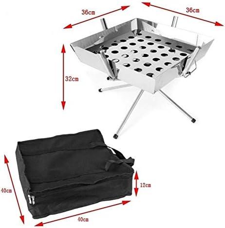 Folding Grill Portable BBQ Picnic con Cooking griglia Perfetto per Campeggio Esterno Picnic (Size : 36x36x32cm)