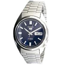 Seiko Men's SNXS77 Automatic-Self-Wind Blue Dial Watch