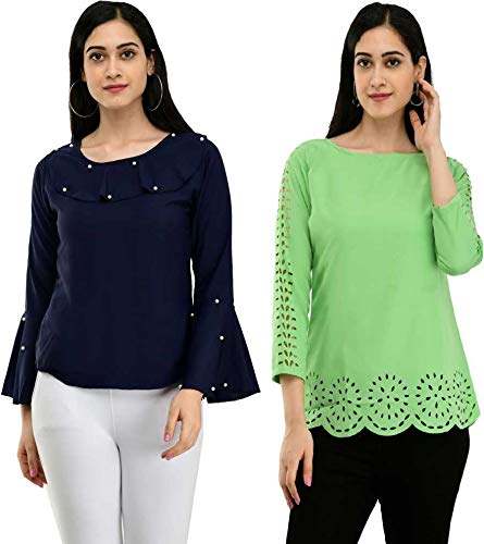 NOBEY Women Casual 3/4th Combo Top