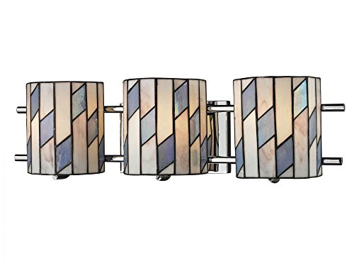 Dale Tiffany TW12465 Glacier Vanity Lights, Polished Chrome ()