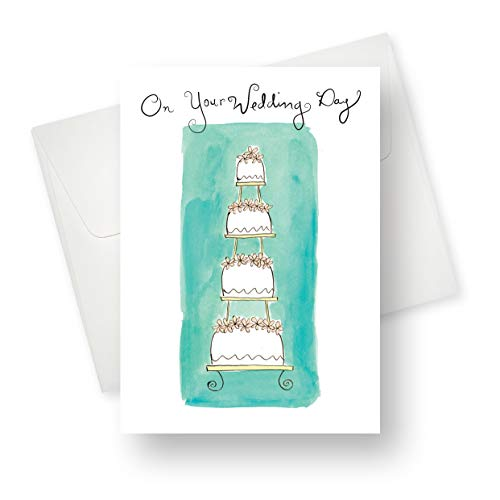 (Northern Cards - Wedding Cake Premium Quality (Wedding) Greeting Card with Unique Tiered Cake Design - 5.5