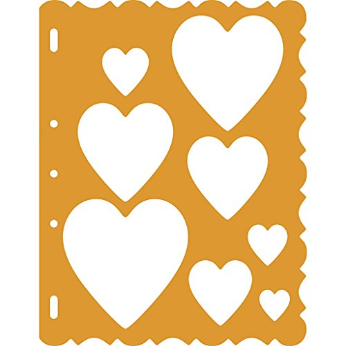 Fiskars 48557097 ShapeTemplate Tool, Hearts with Victorian Border (Templates Plastic Fiskars)
