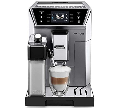 Delonghi PrimaDonna Class Super Automatic Espresso Machine with Milk Frother, 3.5' Color Display and Mobile App, Stainless Steel, ECAM55075
