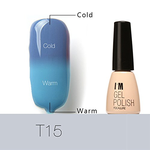 JIEPING Color Changing Nail Polish Gel Temperature Chameleon Soak Off UV LED Bright Color Series IB-T15#
