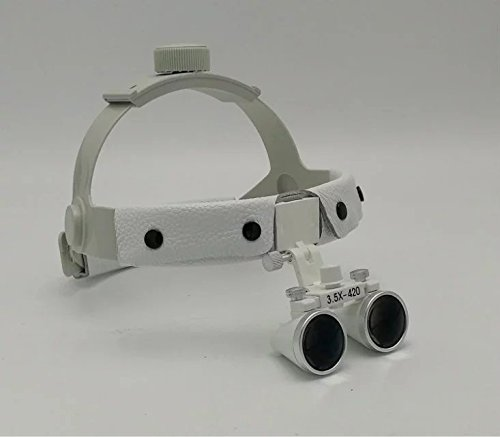 SoHome Headband Surgical Medical Binocular Loupes 3.5X420mm Dental Lab Equipment DY-108 White by SoHome (Image #4)