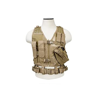 NcSTAR NC Star CTVC2916T, Tactical Vest, Childrens, Tan XS-S