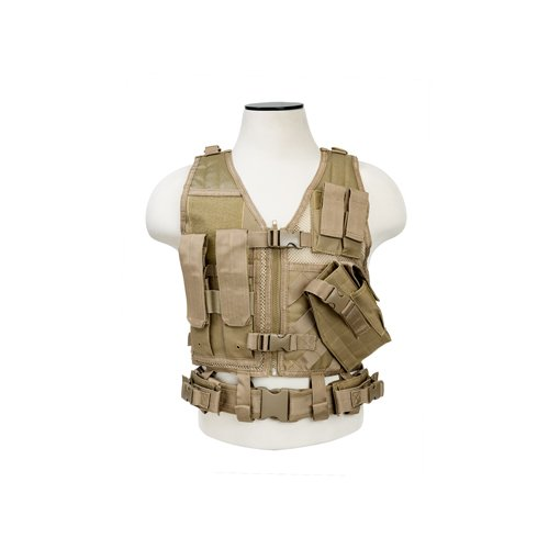 NC Star CTVC2916T Ncstar, Tactical Vest, Childrens, Tan XS-S