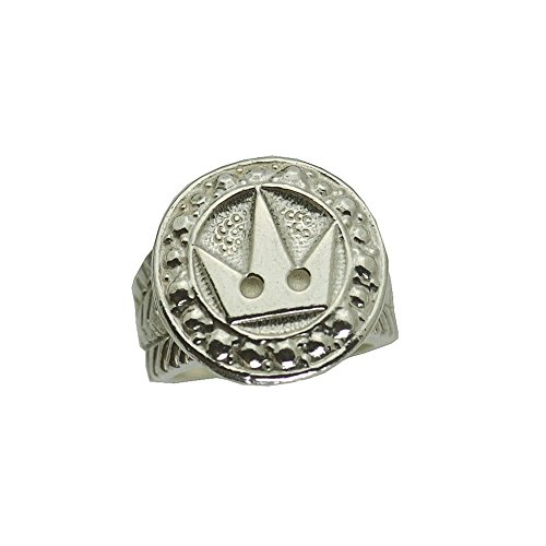 Prince of Diamonds Inc Real Genuine Authentic Sterling Silver New Real Solid Sterling Silver .925 Sora Crown Kingdom Hearts Ring Pick Your Size 3-14