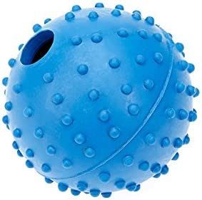 Classic Pet Products Rubber Pimple Ball with Bell, 60 mm, Blue
