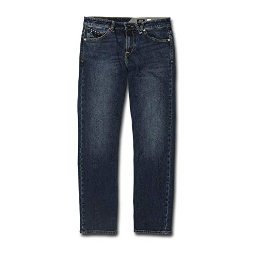 - Volcom Men's Solver Denim Jean, Tokyo Indigo Blue 30X32