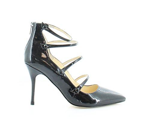 Ivanka Trump Womens Pointy Toe Mary Jane Pumps Black Patent Leather Black MmzXCq6iH1