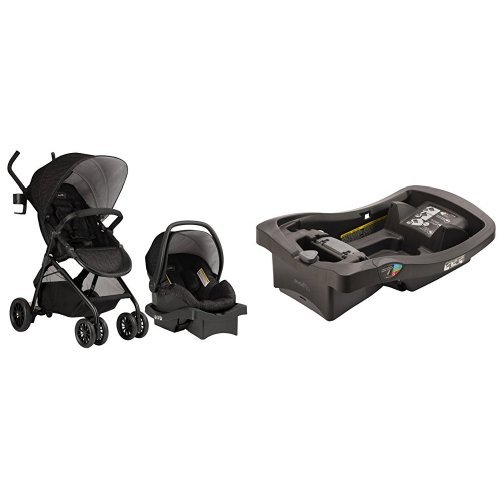 Evenflo Sibby Travel System, Charcoal with LiteMax Infant Ca