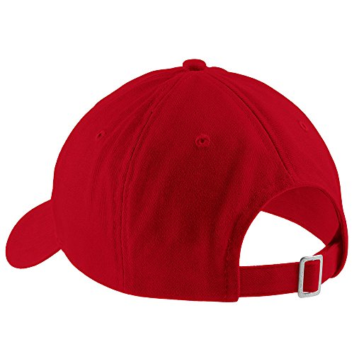 Trendy Apparel Shop I Love Poetry Embroidered Soft Cotton Low Profile Dad Hat Baseball Cap - Red by Trendy Apparel Shop (Image #1)