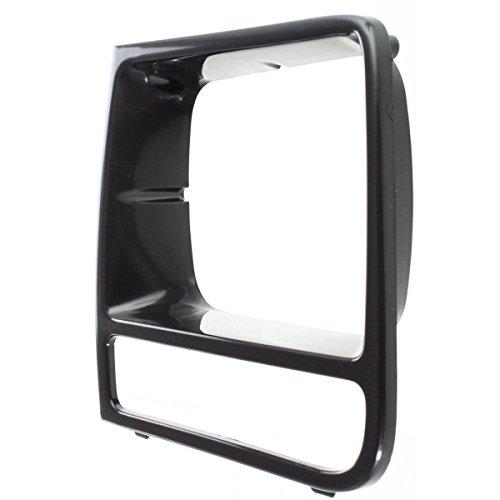 Diften 168-C2547-X01 - 97-01 Jeep Cherokee Black Headlight Headlamp Trim Bezel Driver Side Left LH