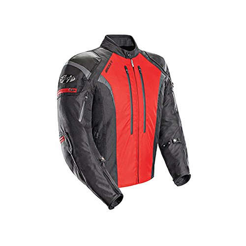 (Joe Rocket Atomic Men's 5.0 Textile Motorcycle Jacket (Red, X-Large))
