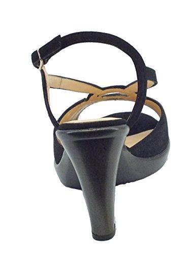 MELLUSO R50101 Nero Tacco 9cm - Sandalias de vestir de Piel para mujer negro