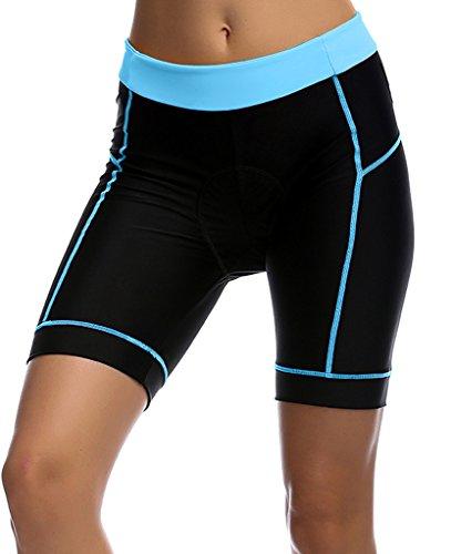 Womens Cycling Shorts - Breathable 3D Padded Cycling Tights Bicycle Bike Half Pants
