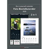 Foto-Bastelkalender 2020 - 2 in 1: schwarz und weiss - Bastelkalender - Do it yourself calendar A4 - datiert - Fotokalender