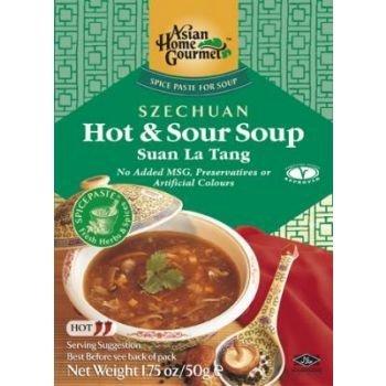 Asian Home Gourmet Szechuan Pikant & Sauere Suppenpaste 50g
