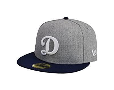 """New Era 59Fifty Cap Los Angeles Dodgers """"D"""" Gray Royal Blue Fitted Hat"""