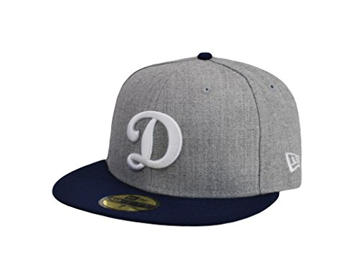 New Era 59Fifty Cap Los Angeles Dodgers D Gray Royal Blue Fitted Hat
