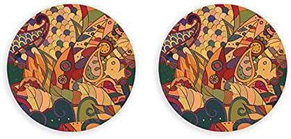 Abrebotellas, tracería de patrones sin fisuras. Diseño Mehndi. Textura de graffiti colorido étnico. Imanes Curvados De Graffiti Para Nevera, Sacacorchos 2 Piezas