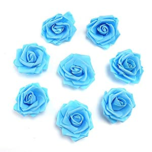 fake flowers heads Artificial PE Foam Roses Flowers for Home Wedding Decoration Scrapbooking Handmade Kissing Balls 20pcs 7cm 4
