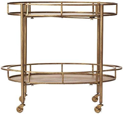 Eliza Bar Cart  30 Hx34 Wx18 D  Gold