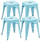 Duhome 4 pcs 18″ Metal Chairs Tolix Style Dining Stools Indoor Outdoor Restaurant Cafe Industrial Design (Blue) For Sale
