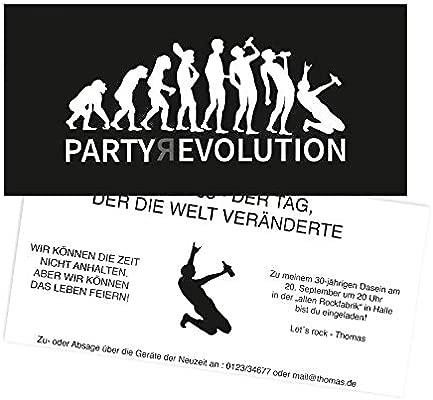 Tarjetas De Invitación Partyrevolution Imprimir Tus Textos